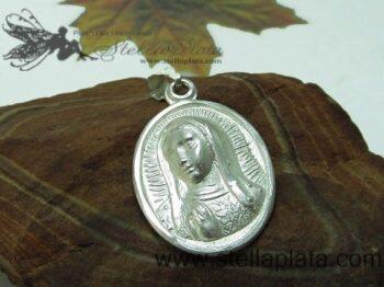 Medalla Ovalo Virgen Rostro Chica Plata 925 distribuidor mayoreo joyeria para vender donde puedo comprar joyeria para vender comprar plata plata de taxco