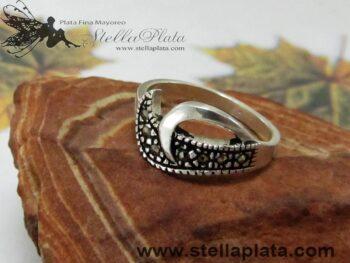 Anillo Marquesita Olas Plata 925 alicia plata plata mayoreo distribuidor de mayoreo venta de plata joyeria para vender comprar plata